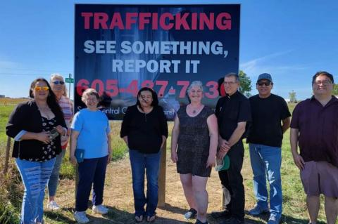 NEW TRAFFICKING SIGN EAST OF WAGNER
