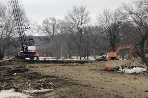 WORK CONTINUES ON BRIDGE REPAIR AT CAMPGROUND