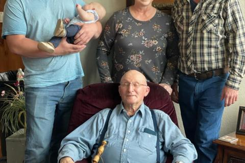 FIVE GENERATIONS GATHER