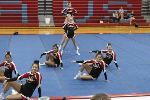 CHEER TEAM COMPETES AT BON HOMME
