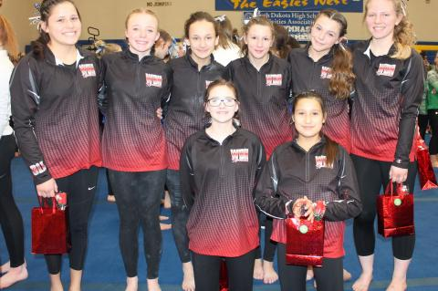 WAGNER-BON HOMME GYMNASTS PLACE 7TH AT STATE