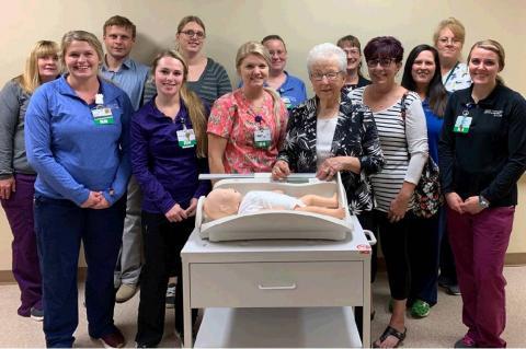 NOVAK FAMILY DONATES BABY SCALE TO WCMH-AVERA