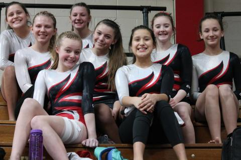 Wagner/Bon Homme Varsity team members are, back row from left: Alcista Dion and Alexys Rueb; m