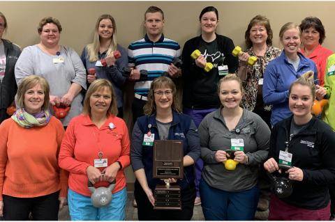 WAGNER COMMUNITY MEMORIAL HOSPITAL-AVERA 2020 FEBRUARY FITNESS BUSINESS CHALLENGE CHAMPIONS