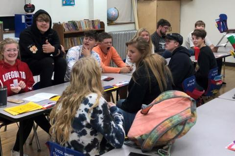 STUDENT ACTORS PREPARE FOR JANUARY PERFORMANCE