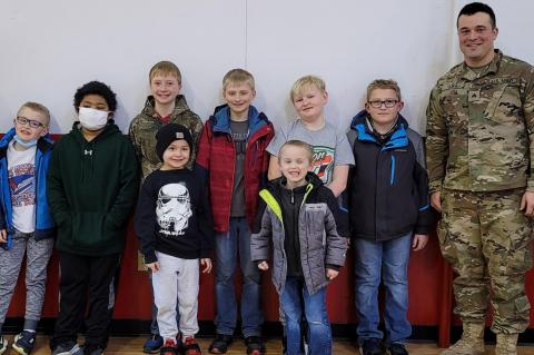 WAGNER CUB SCOUTS TOUR NATIONAL GUARDS