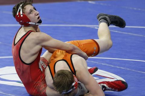 """WRESTLERS PLACE 9TH AT STATE """"B"""""""