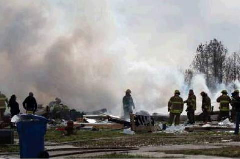 HOME EXPLOSION LEAVES 2 DEAD