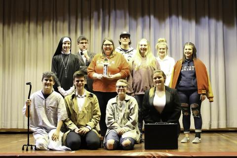 DRAMA CLUB SECURES 2ND PLACE AND ADVANCES TO STATE COMPETITION