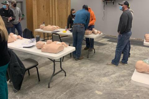 22 FIREMEN RE-CERTIFIED IN CPR