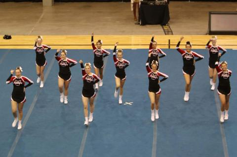 CHEERLEADERS PARTICIPATE AT STATE