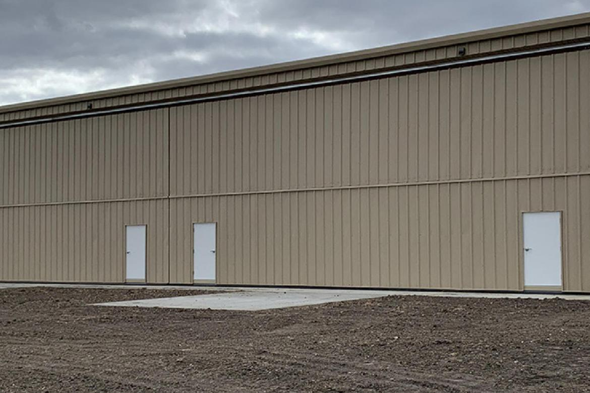 AIRPORT CONSTRUCTS 4 UNIT T-HANGAR WITH AIRPORT IMPROVEMENT PROGRAM GRANT