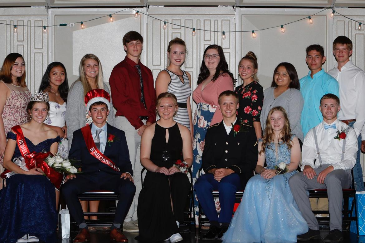 2020 HOMECOMING CORONATION HELD QUEEN ABBY BRUNSING & KING SIMON FREIER